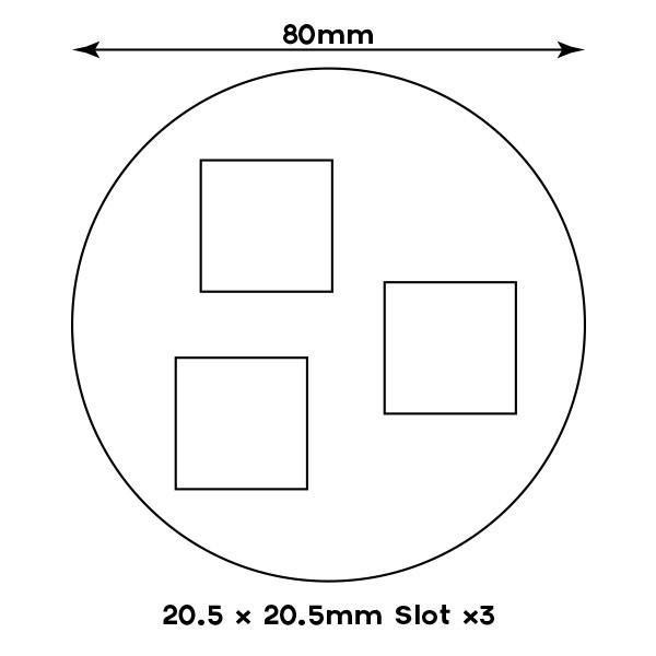 3x 20mm slots - 80mm Round Sabot