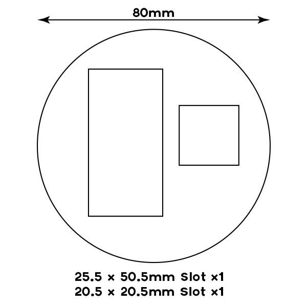 25×50 + 20mm Slots – 80mm Round Sabot – Knights Of Dice